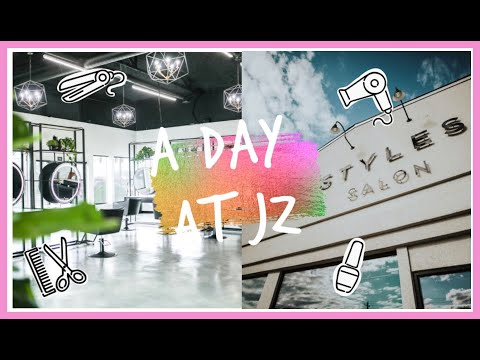 A DAY AT JZ STYLES!    SALON TOUR, DAY IN THE LIFE VLOG.