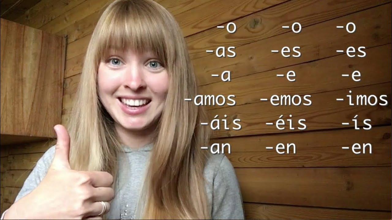 Обучение испанскому.Урок 3 Спряжение испанских глаголов