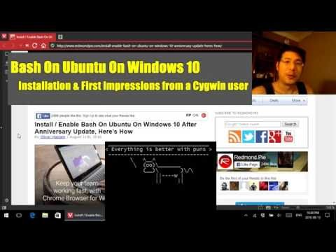 Bash in Windows 10: Installation & First Impressions from a Cygwin user