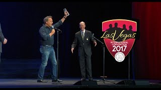 Mike Rowe accepts Lifetime Membership award from Barbershop Harmony Society