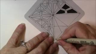2V Tangle Pattern Leṡson # 189