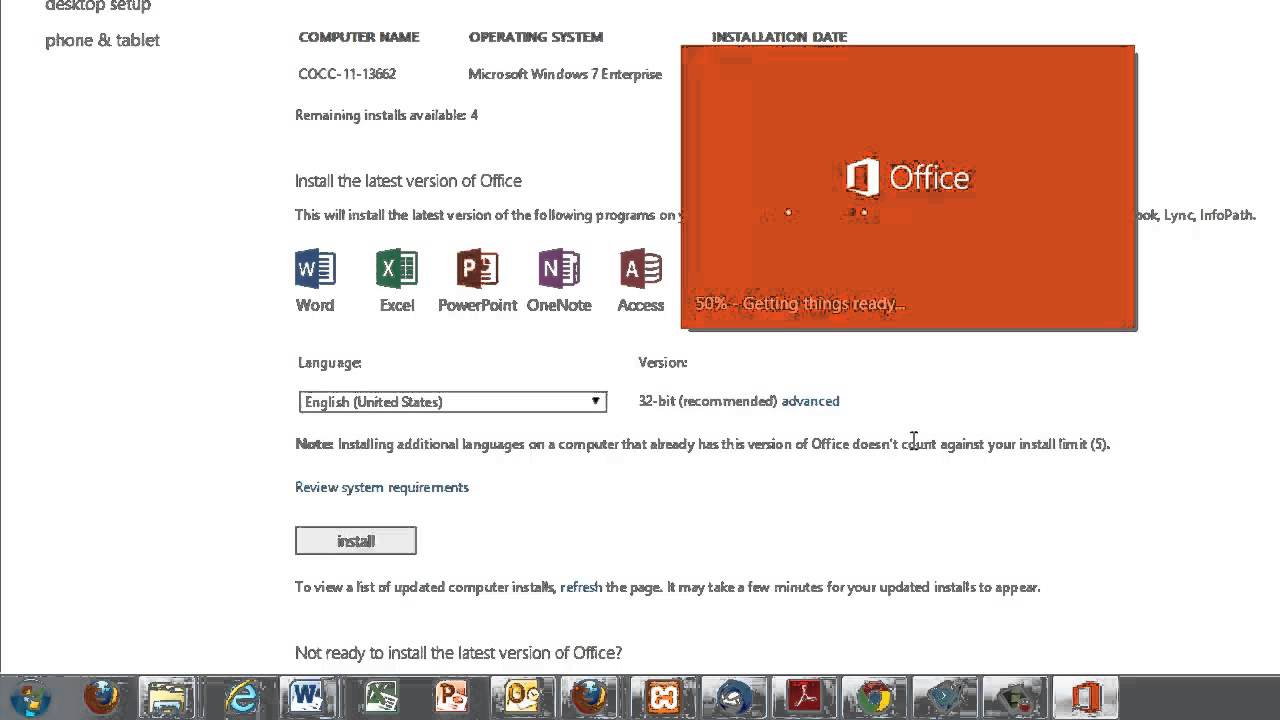 download office 365 home offline