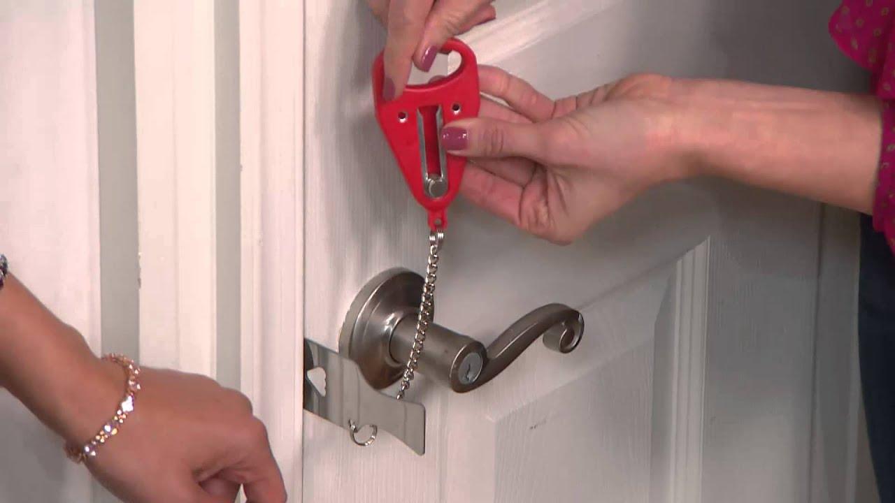 Addalock Set Of 2 Portable Security Door Locks With