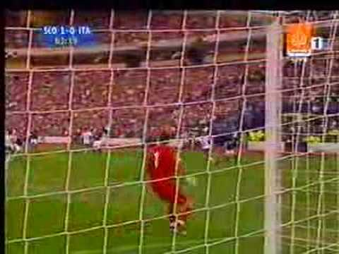 awesome pass by totti to vieri