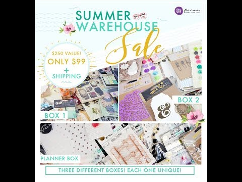 Prima Warehouse Sale Box Sneak Peeks on Facebook Live