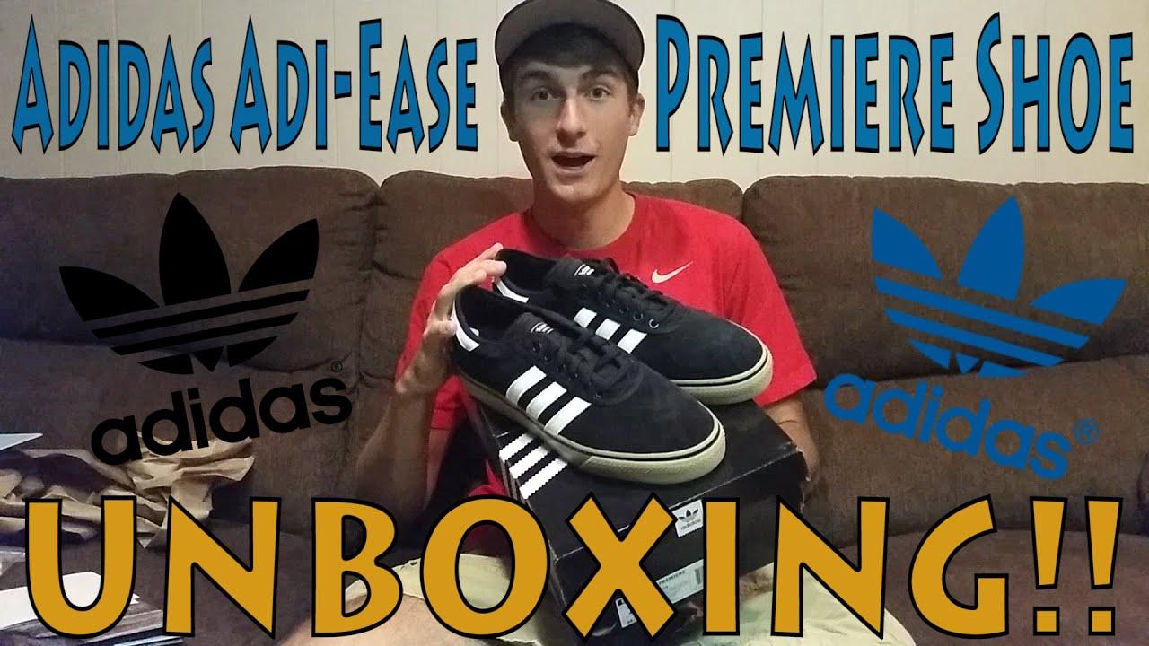 watch 7a093 c4d7f Adidas Adi-Ease Premiere Skateboarding Shoe UNBOXING!!