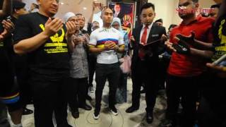 Terengganu celebrates the return of keirin world champ, Jijoe