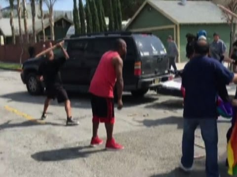 Raw: Protesters Clash With Klansmen At KKK Rally