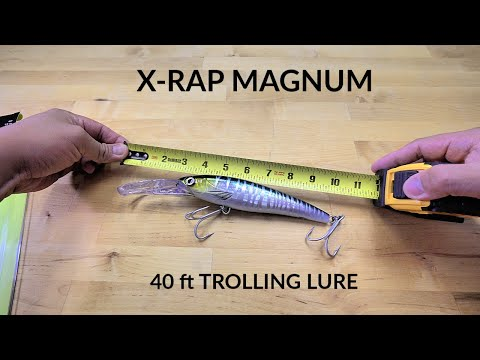 Rapala X-Rap Magnum 20 Deep Dive Fishing Lure Deadly on Wahoo Tuna Grouper