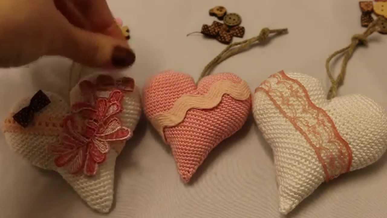 Винтажные сердечки своими руками