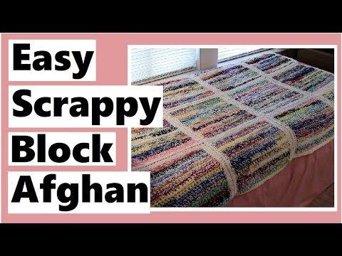 Easy Scrappy Block Afghan Tutorial – Learn How to Crochet with Darlene