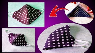 Easy Face 3D Masks How to Make Face Mask At Home Very Easy New Style Pattern Masks Tutorial