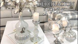 IDEAS PARA DECORAR LA SALA EN OTOÑO/DECORACIÓN/FALL HOME DECOR/DIY / decoracion