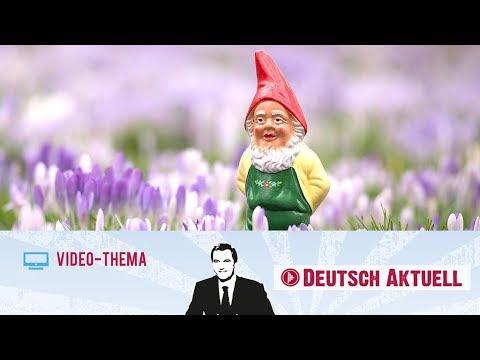 Typisch Deutsch: Der Gartenzwerg   Deutsch Lernen Mit Videos