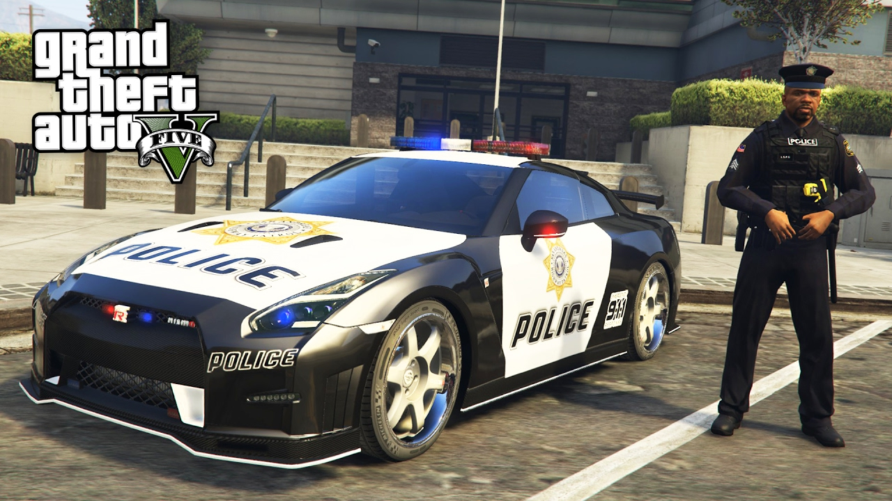 GTA 5 Mods - PLAY AS A COP MOD!! GTA 5 Police Nissan GT-R NISMO LSPDFR Mod! (GTA 5 Mods Gameplay)
