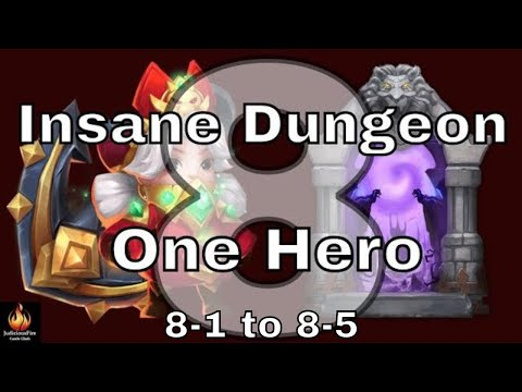 Castle Clash Insane Dungeon 8 Vs Commodora SOLO!!! (Part 1)