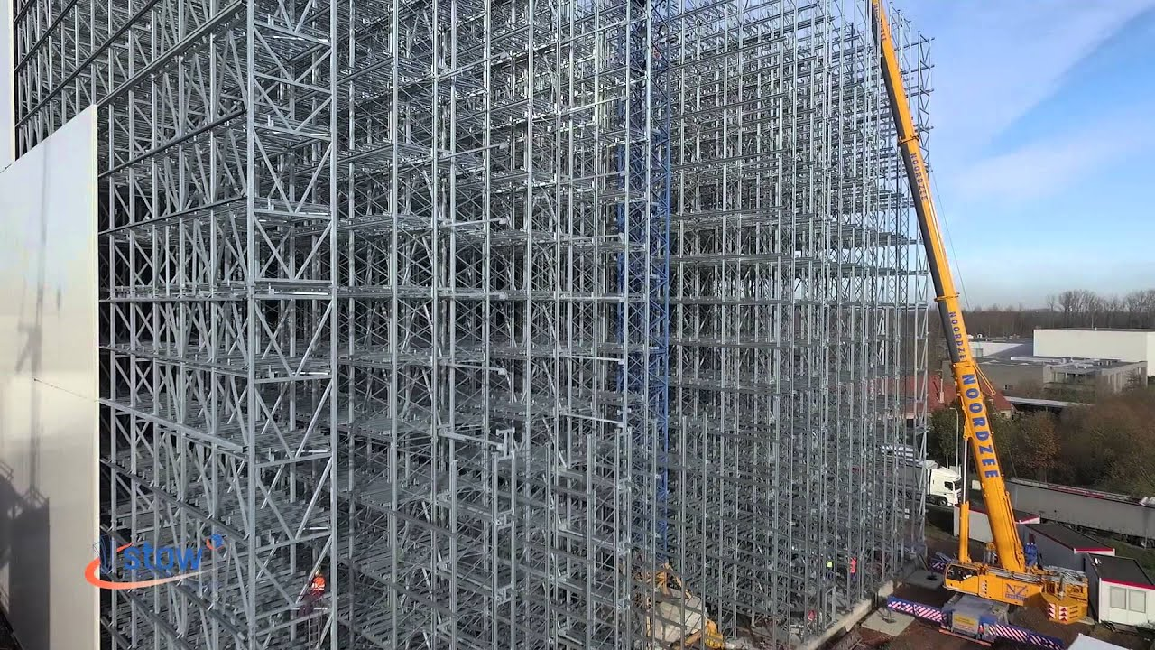 Stow Silo Clad Rack High Bay Warehouse At Agristo
