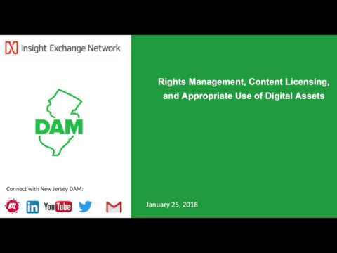 Rights Management, Content Licensing, and Appropriate Use of Digital Assets