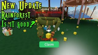 Roblox Unboxing Simulator Rainforest Mise à jour (fr) Monkey's Et le serpent est sur ma tête. | NOUVELLE MISE À JOUR