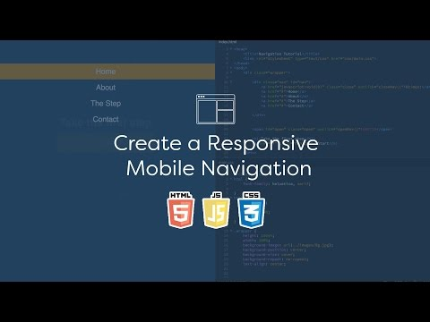 Create a Responsive Mobile Navigation - Code Tutorial