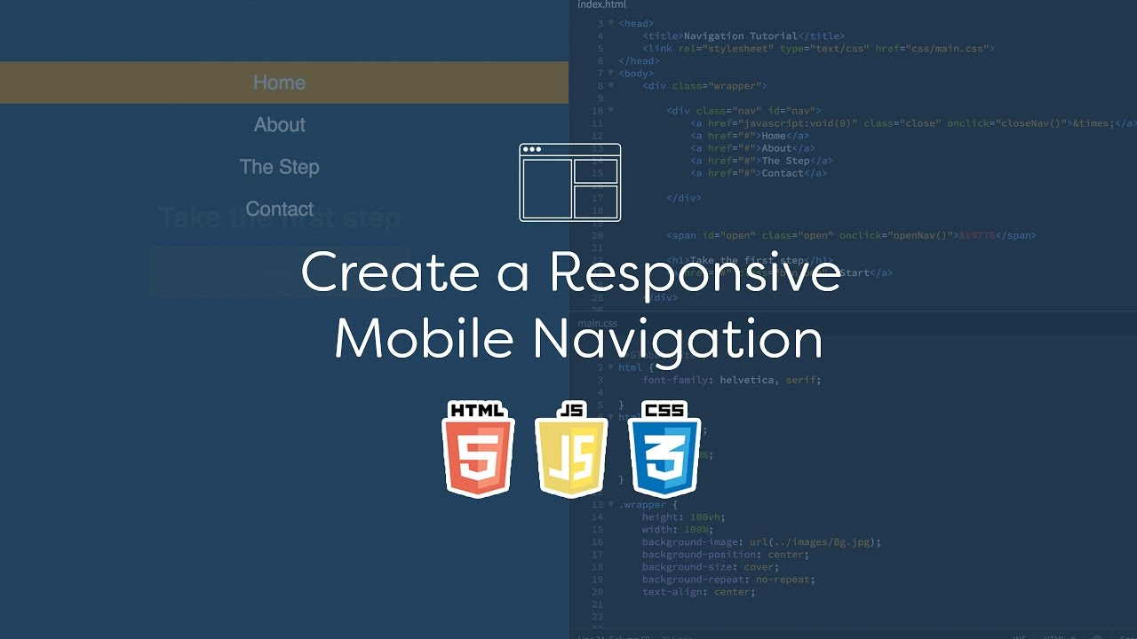 Background image 100 responsive - Create A Responsive Mobile Navigation Code Tutorial You