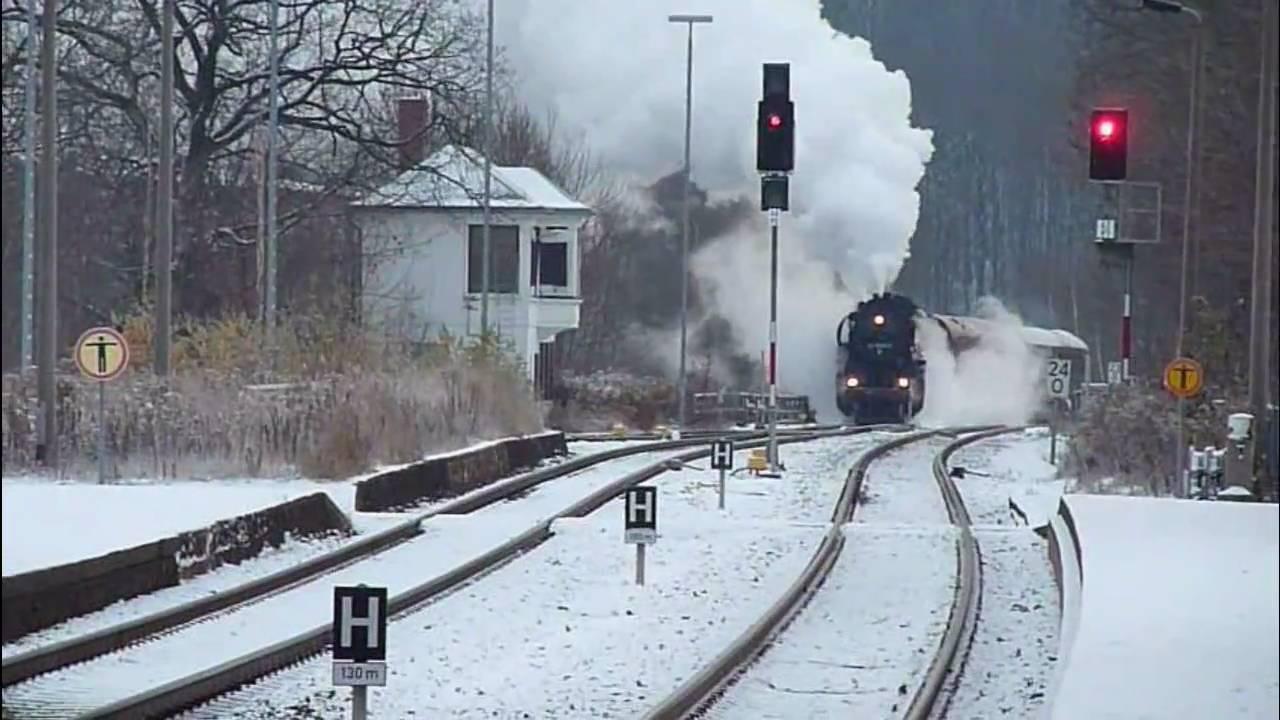 Dampfloks Im Winter