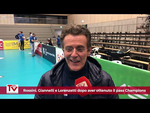 Rossini, Giannelli e Lorenzetti dopo la qualificazione alla Main Phase di Champions League