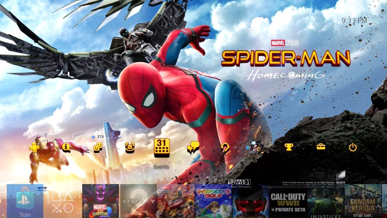 Spider-Man Homecoming Dynamic Theme and Avatars Digital ...