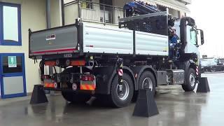 Mercedes Arocs 3 assi - Impianto per allestimenti demontabili con gru Fassi F365