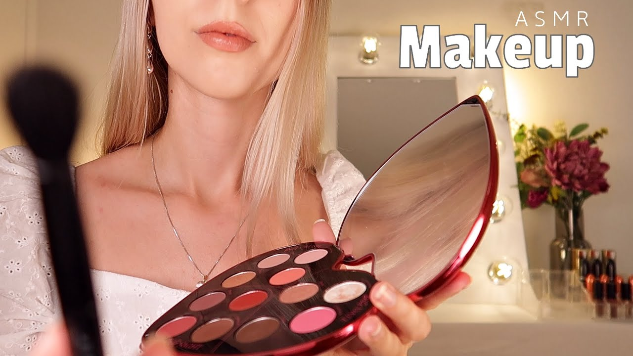 ASMR Doing Your Makeup 🌼  Personal attention (Layered sounds Roleplay)
