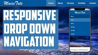 Pure CSS Responsive Drop Down Navigation Menu with HTML5 and CSS3