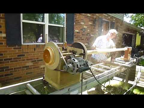 Michael Sullivan's crazy homemade lathe
