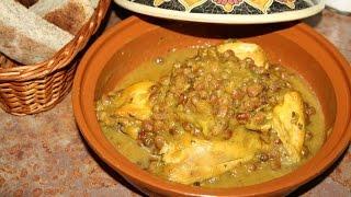 Recette Tagine De Poulet Aux Oignons & Raisins Secs - Chicken Tagine With Onions & Raisins