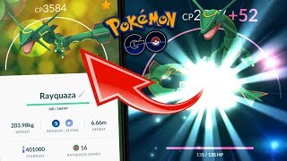 POWERING UP MY 98% RAYQUAZA TO THE MAX! (MY HIGHEST CP POKEMON) - POKEMON GO