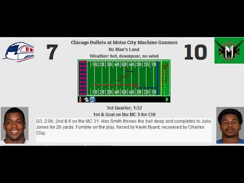 Week 8: Chicago Bullets (5-2) @ Motor City Machine Gunners (6-1)