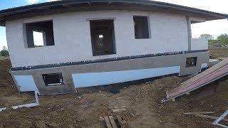Jak obrobić okna przy elewacji? Zrób to sam. Wyznaczamy spadek terenu. Schodkowanie. #vlogbudowlany