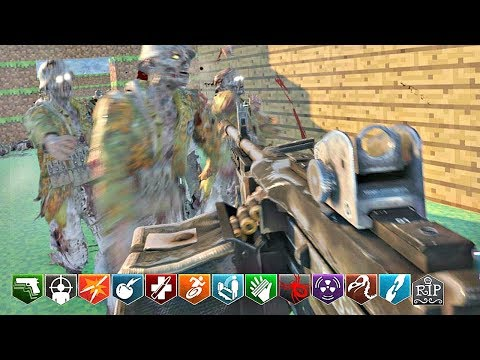 BLACK OPS 3 CUSTOM ZOMBIES MOD TOOLS! | MINECRAFT CHALLENGE MAP WITH MW2 WEAPONS!