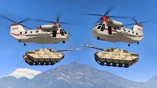 FLYING TANK FIGHT! (GTA 5 Funny Moments)
