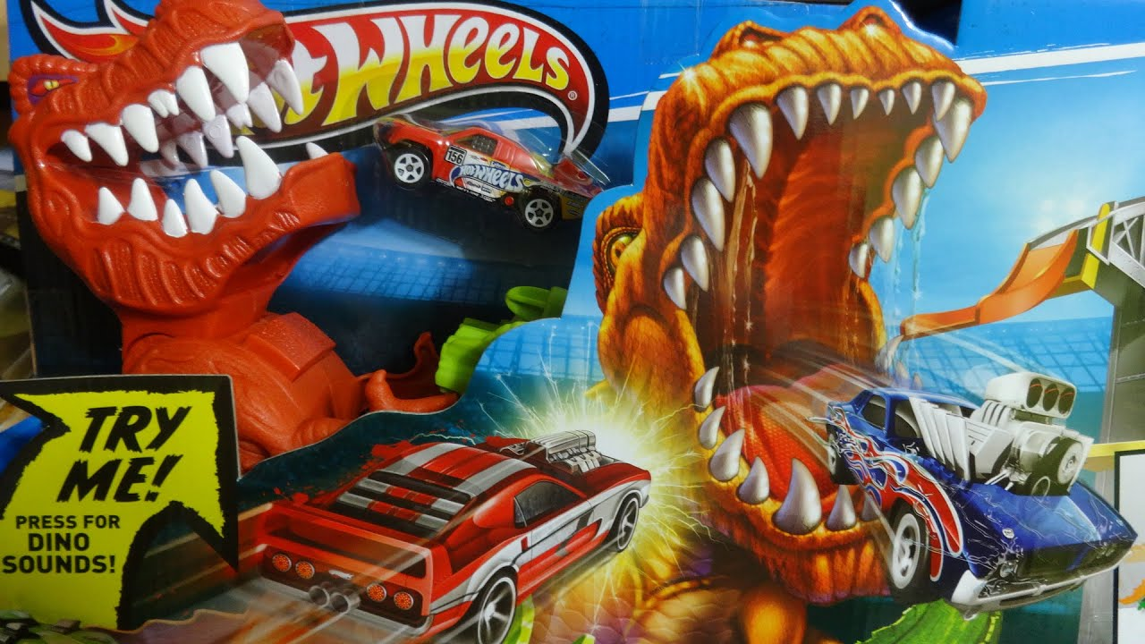 hotwheels t rex takedown track youtube. Black Bedroom Furniture Sets. Home Design Ideas