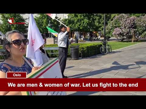 PMOI/MEK supporters rally in Oslo and London against the Iranian regime sham presidential election
