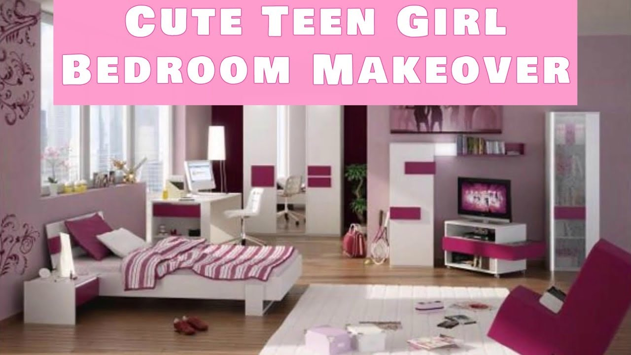 Cute teenage girl 39 s bedroom makeover teenage bedroom - Cute small bedroom ideas ...