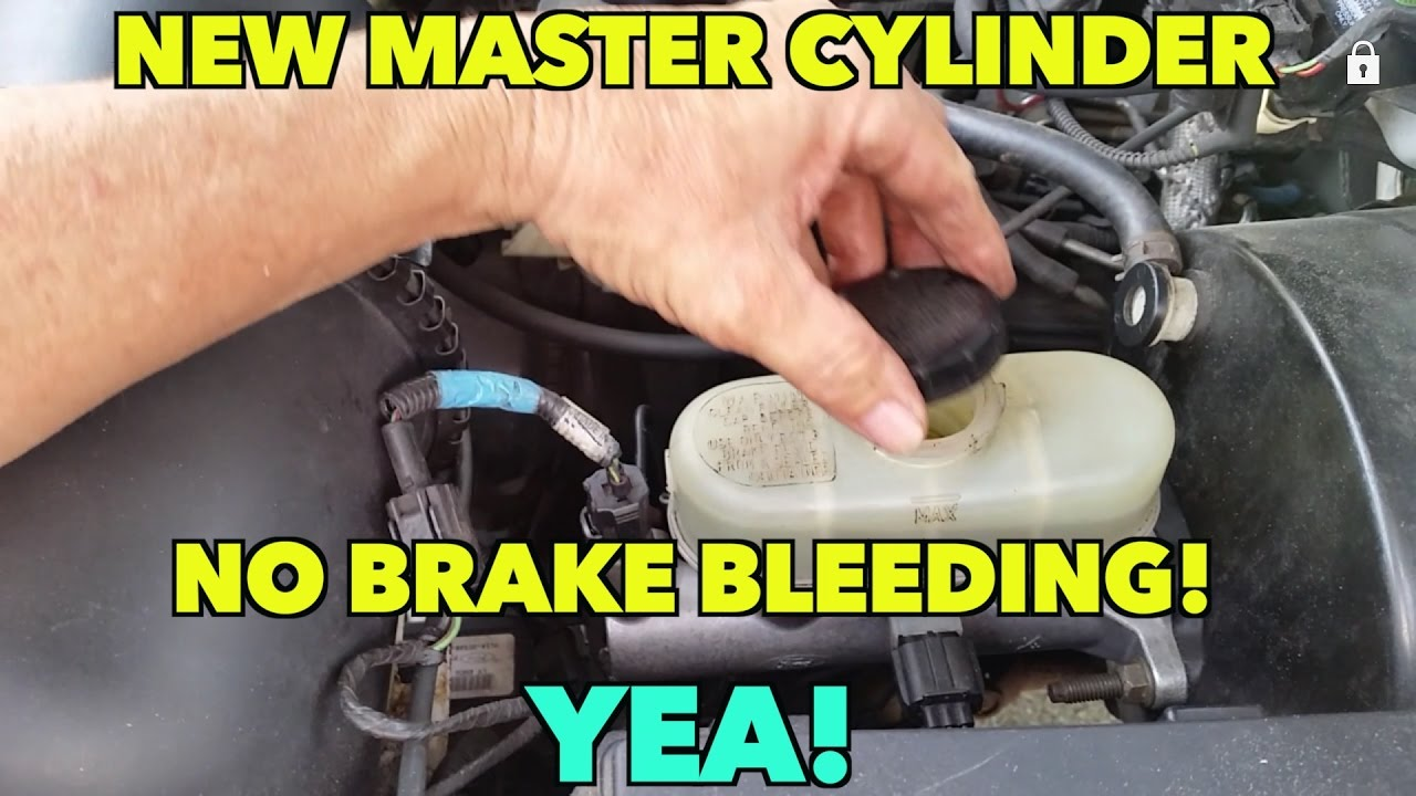Ford Expedition New Brake Master Cylinder  No brake bleeding! How I dit it
