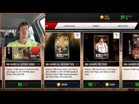 NBA Live Mobile NBA Awards All- Defensive Packs!! New 99!!!!