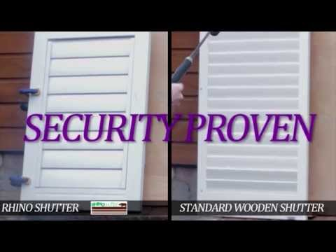 Rhino Shutters | Security Plantation Shutters
