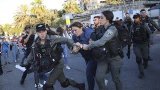 Israeli police arrest Al Jazeera journalist Givara Budeiri in Sheikh Jarrah