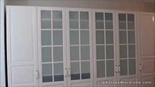 Ikea Pax Birkeland White Glass Door Wardrobe Design