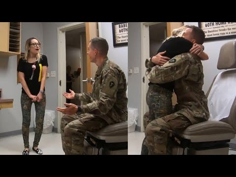 Texas Military Husband Poses as Patient to Surprise Doctor Wife at Work