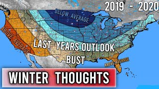 Winter Thoughts #3 - Why last winter's Forecast was so bad