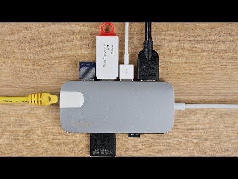 Perfekter Alltagsbegleiter! USB C Adapter (Hub) für MacBook (Pro) & Co. / GN30H von QacQoc / DEUTSCH