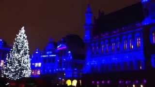 Brussels Grand Place Christmas sound and light show